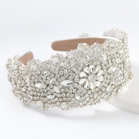 Flanell Strass Glas Blumen Stirnband NHJE313226's discount tags