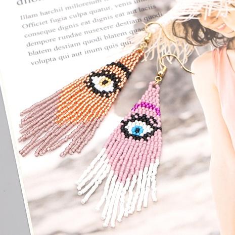 Fashion Ethnic Demon Eyes Long Tassel Earrings NHGW313229's discount tags