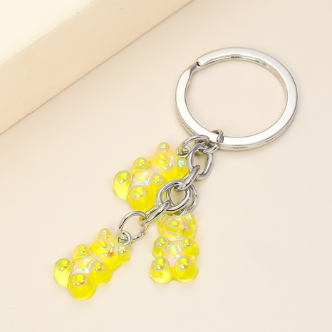 Creative Acrylic Transparent Color Bear Keychain  NHAP313232's discount tags