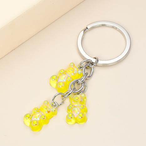 Porte-clés ours en acrylique de couleur transparente créative NHAP313232's discount tags