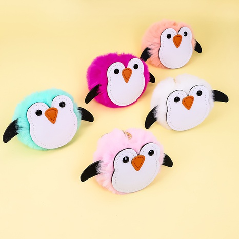 joli porte-clés boule de fourrure de lapin imitation pingouin NHAP313236's discount tags