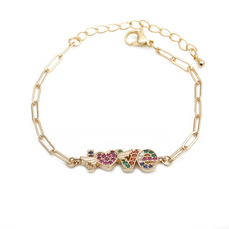 new fashion micro-inlaid zircon love bracelet NHYL313244's discount tags
