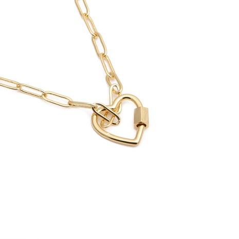 Kupferkette Hip Hop Herz Halskette NHYL313256's discount tags