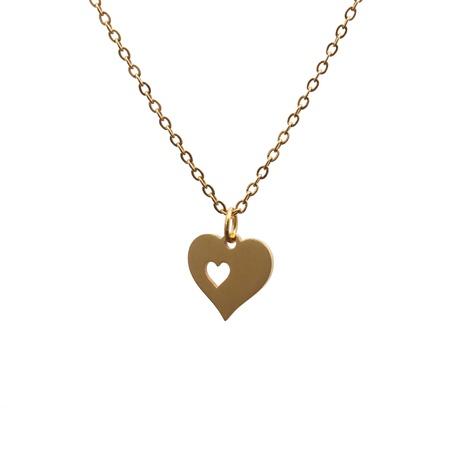 Voll polierte Herzanhänger-Halskette aus Edelstahl NHYL313262's discount tags