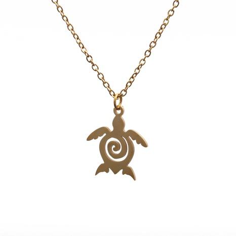 Kreative neue Schildkrötenkette aus Titanstahl NHYL313264's discount tags