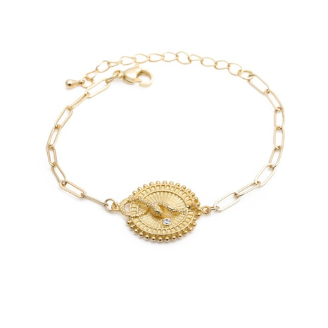fashion micro-inlaid zircon snake adjustable Cuban bracelet  NHYL313275's discount tags