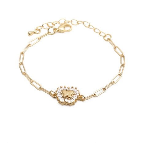 fashion micro-inlaid zircon butterfly adjustable bracelet NHYL313277's discount tags