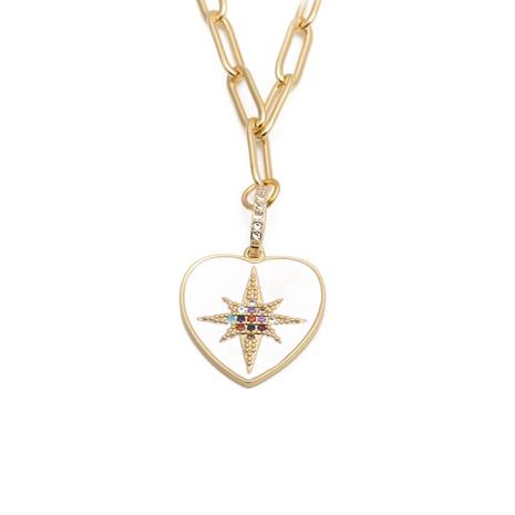 collier cœur en zircon micro-incrusté NHYL313289's discount tags