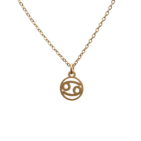 Nouveau collier de constellation en acier titane créatif NHYL313294's discount tags