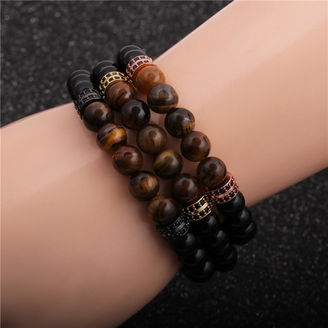 Creative new tiger eye stone bright stone bracelet NHYL313296's discount tags
