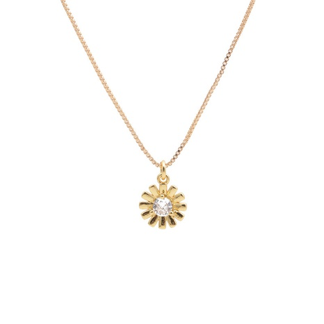 collier à pendentif fleur en or zircon micro-incrusté NHYL313300's discount tags