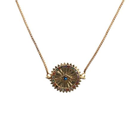 collier à pendentif étoile à six branches en zircon micro-incrusté NHYL313302's discount tags