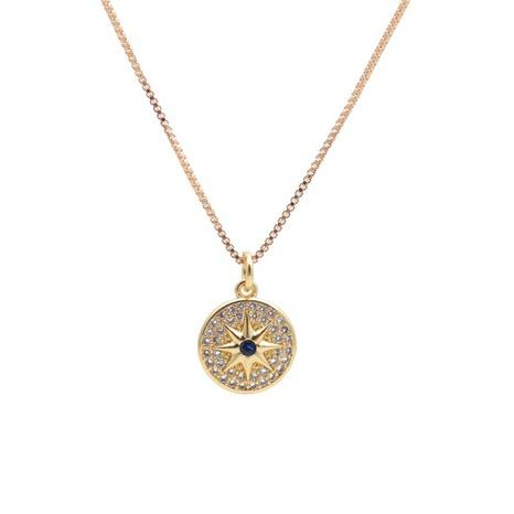 Collier à pendentif étoile ronde à six branches NHYL313311's discount tags