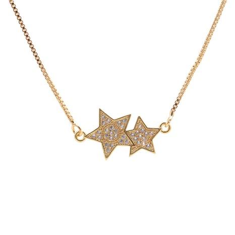 collier à pendentif étoiles zircon micro-incrusté NHYL313318's discount tags