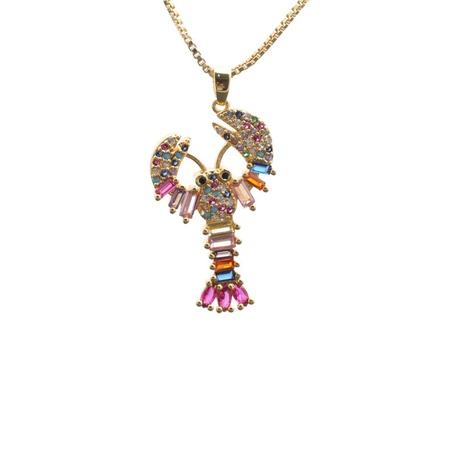 collier pendentif crabe zircon incrusté de mode NHYL313321's discount tags