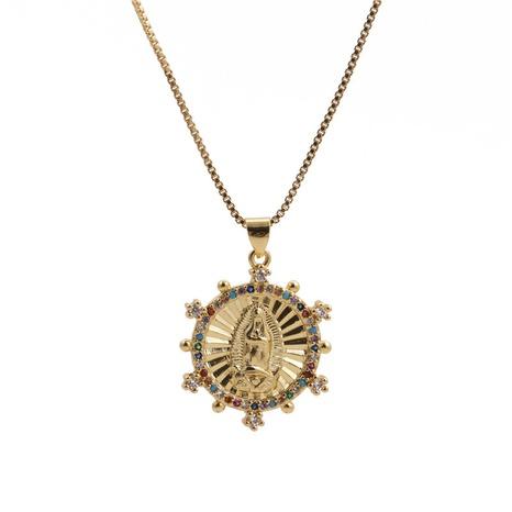 collier pendentif vierge marie zircon incrusté NHYL313324's discount tags