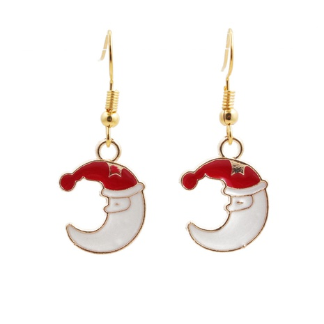 Christmas fashion moon earrings NHYL313327's discount tags