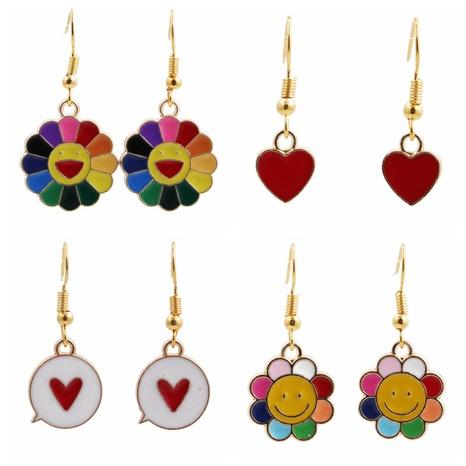simple sun flower love earrings NHYL313326's discount tags