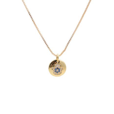 Collier à pendentif rond en zircon NHYL313331's discount tags