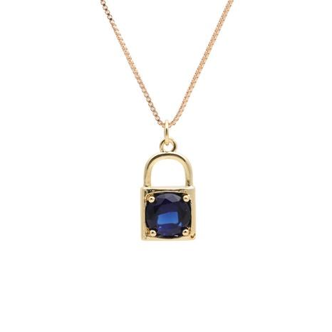 mikro-eingelegte Halskette mit Zirkonschloss NHYL313332's discount tags