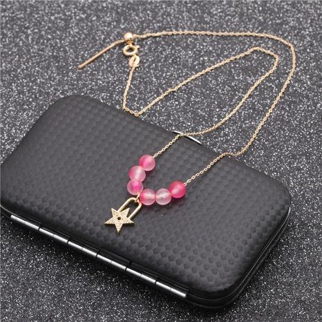 mikro-eingelegte Zirkon-Sternanhänger-Halskette NHYL313333's discount tags