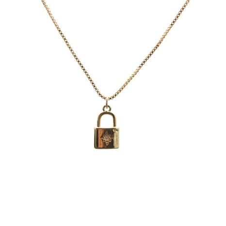 mikro-eingelegte Halskette mit Zirkonschloss NHYL313334's discount tags