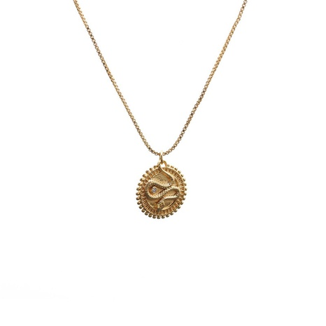 nouveau collier pendentif en forme de serpent en zircon micro-incrusté NHYL313335's discount tags