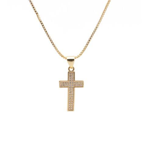 Collier à pendentif croix Mariana de style brésilien NHYL313337's discount tags