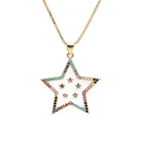 neue Mode mikro-eingelegte Zirkon Stern Halskette NHYL313339's discount tags