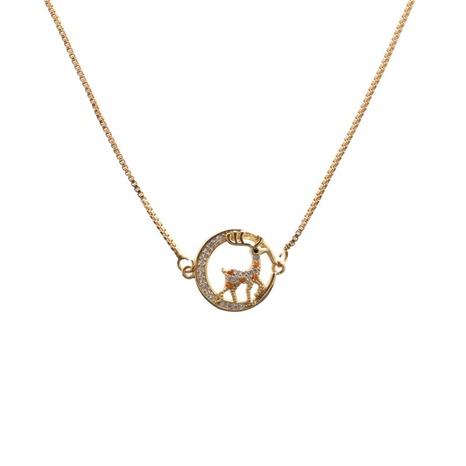Mode mikro-eingelegte Zirkon Halskette NHYL313340's discount tags
