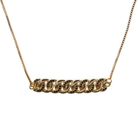 collier en zircon simple micro-incrusté NHYL313341's discount tags