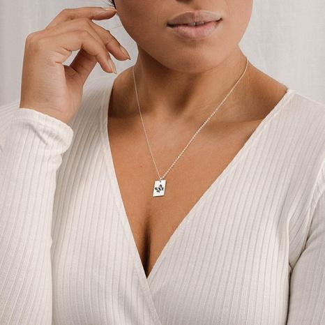 nouveau collier pendentif papillon simple lettrage NHTF313198's discount tags