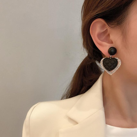 Hollow square contrast color trendy earrings NHOT303648's discount tags