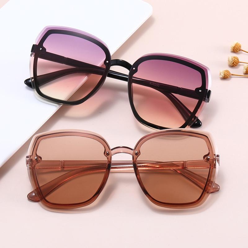 Gradient irregular fashion frame sunglasses  NHKD313347
