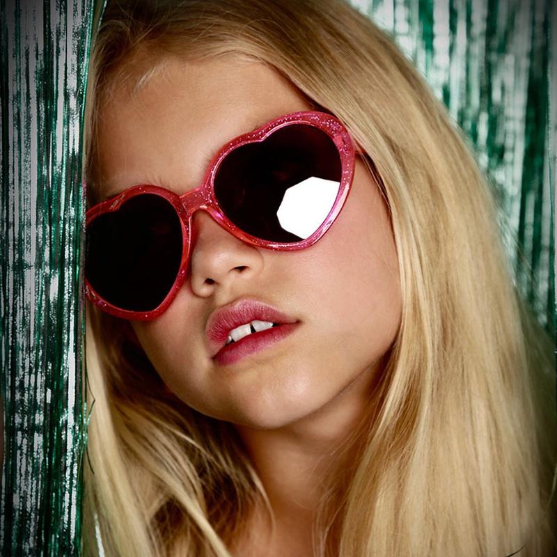 New Children's fashion love shape glasses NHKD313353