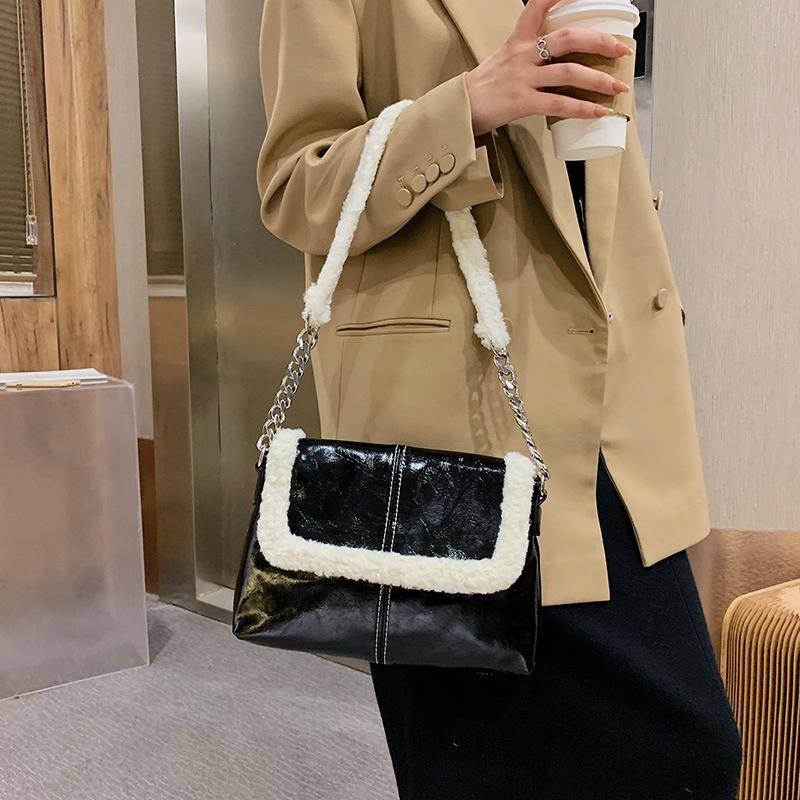 new fashion wild fur casual underarm bag NHJZ313539