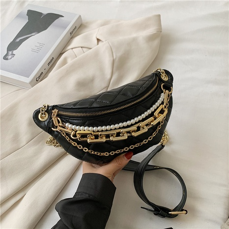 fashion new pearl chain belt bag NHTG313585's discount tags