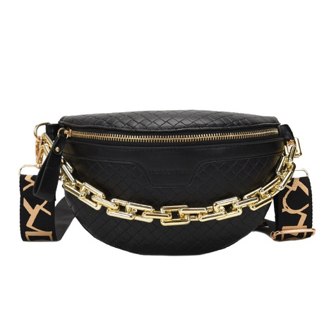 Acrylic thick chain shoulder messenger bag chest bag mobile phone waist bag  NHTG313589's discount tags