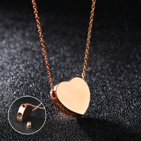 simple Titanium Steel Love Necklace NHOP313424's discount tags