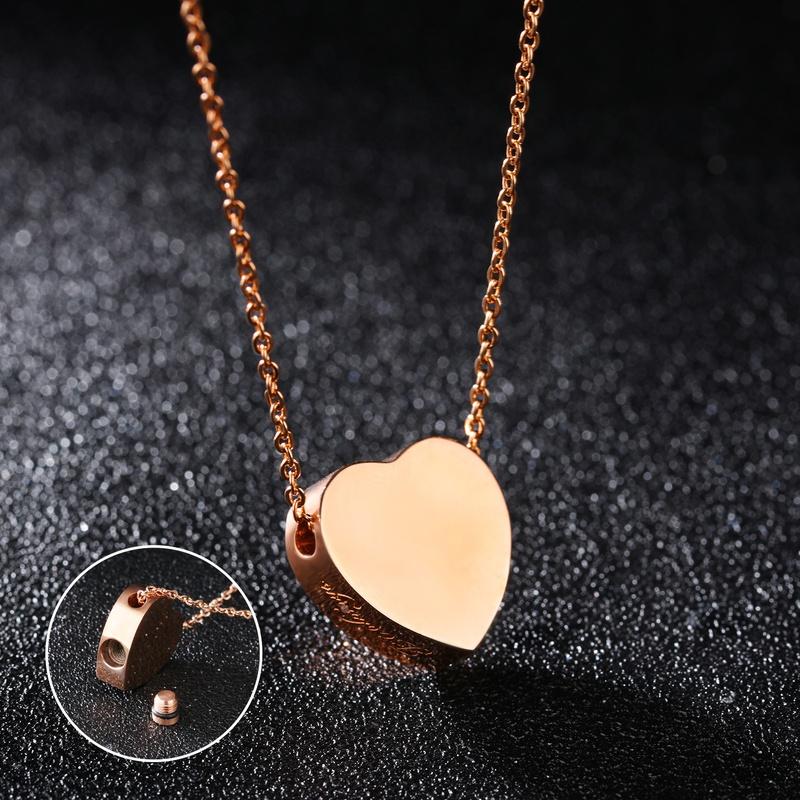 simple Titanium Steel Love Necklace NHOP313424