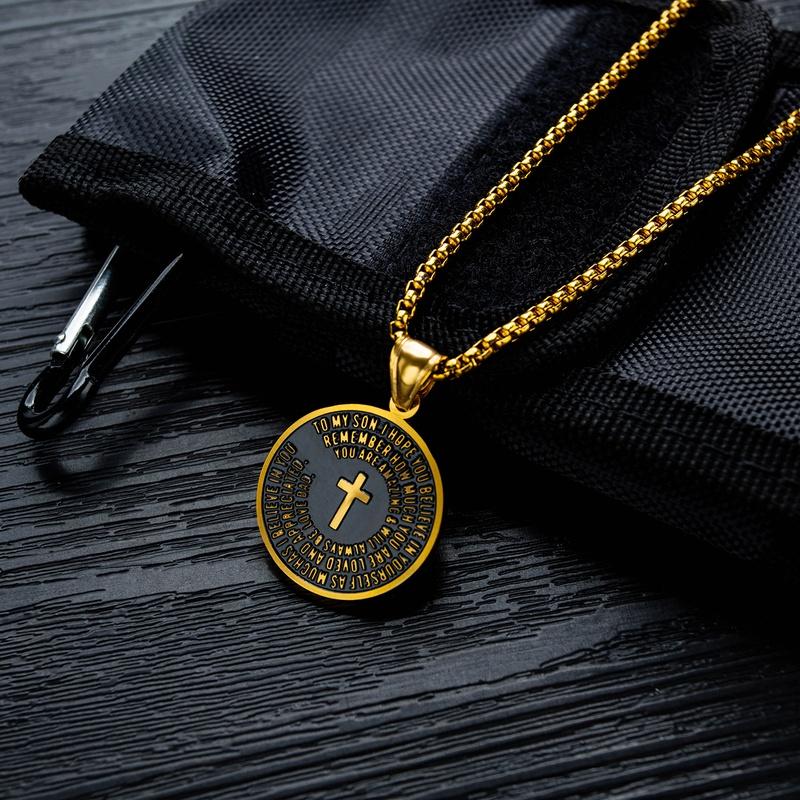 new retro religious medal pendant necklace NHOP313381