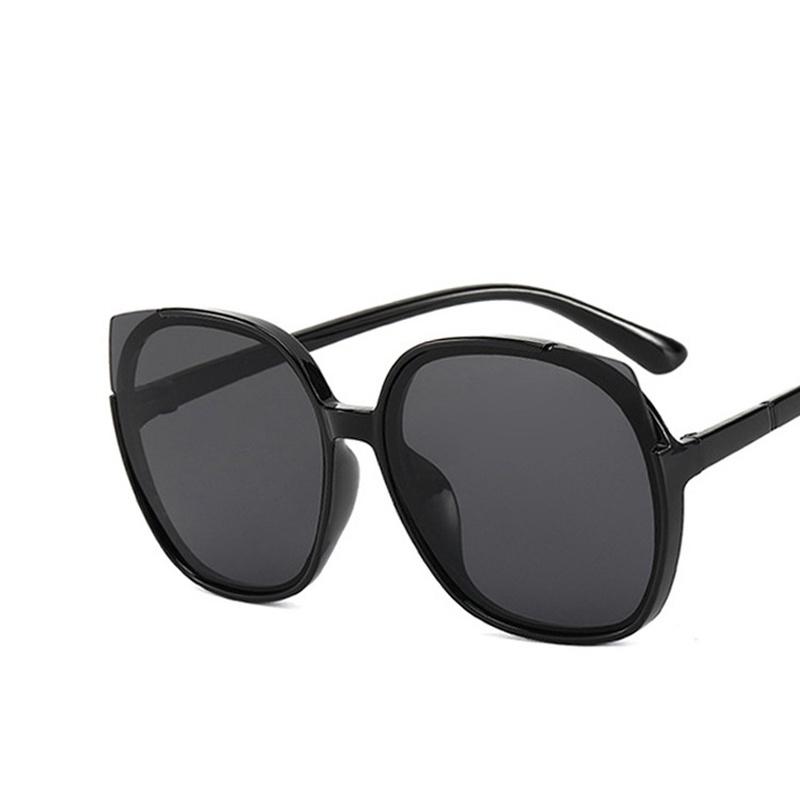 Korean cat eye round big frame sunglasses  NHKD313350