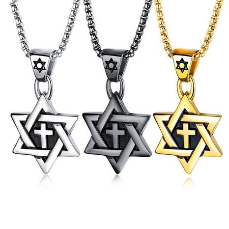 collar de cruz simple de moda NHOP313386's discount tags