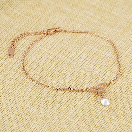 New Korean diamond bow anklet  NHOP313495's discount tags