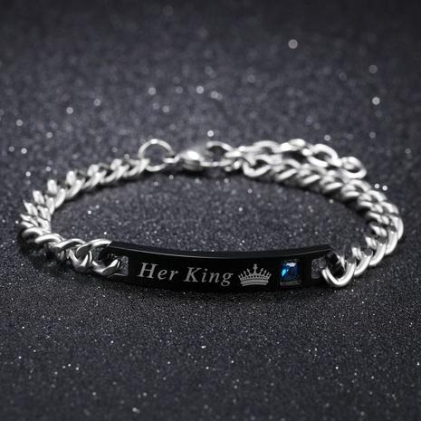 bracelet en acier titane zircon mode romantique simple NHOP313498's discount tags