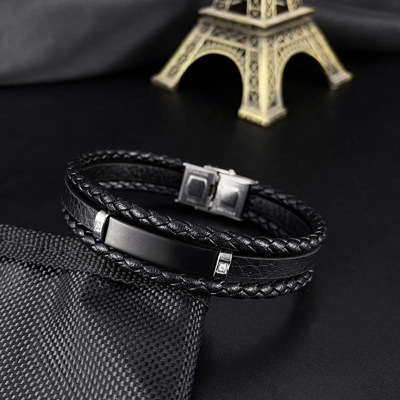 retro woven simple leather bracelet NHOP313398