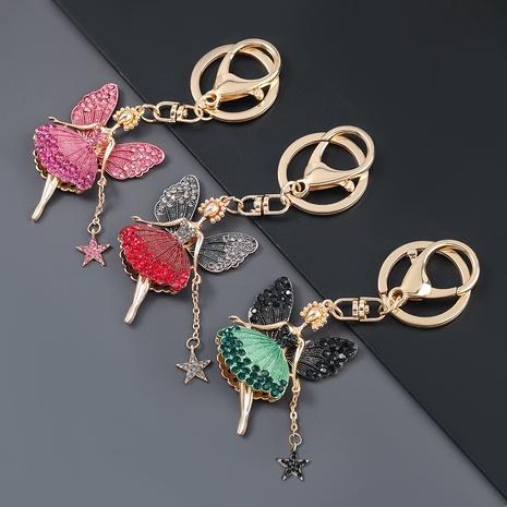 porte-clés papillon en alliage de diamant NHJE303095's discount tags