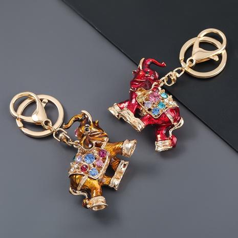 porte-clés d'éléphant de costume de diamant d'alliage NHJE303097's discount tags