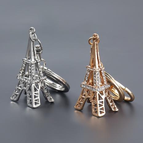 porte-clés tour Eiffel en alliage de mode diamant NHJE303101's discount tags