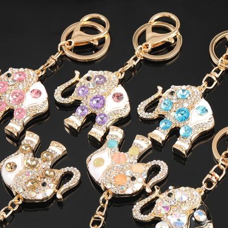 porte-clés éléphant de bande dessinée de diamant d'alliage NHJE303111's discount tags